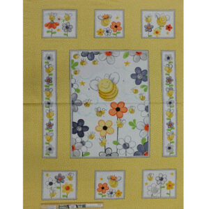 Patchwork Quilting Sweet Bees Nursery Panel 90x110cm Fabric
