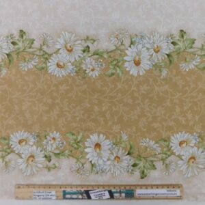 Quilting Patchwork Sewing Fabric Fawn Daisy Border 50x55cm FQ