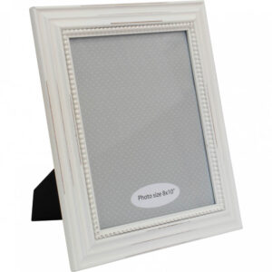 French Country Wooden Photo Frame White B 8x10 Inch Freestanding