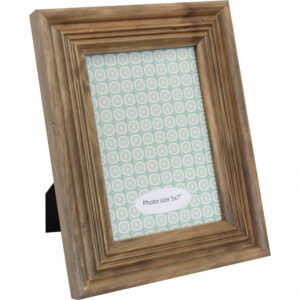 French Country Wooden Photo Frame Natural 5x7 Inch Freestanding