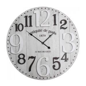 Clocks Wall Hanging Grey Boards Antiquite de Paris Large 58cm