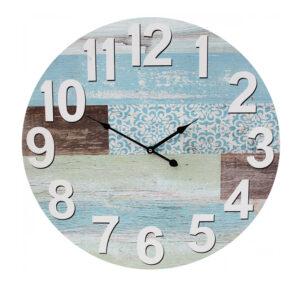 Clocks Wall Hanging Mixed Pastel Media Boards Large 58cm