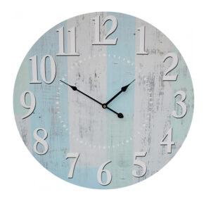Clocks Wall Hanging Pastel Vertical Washed Boards Large 58cm