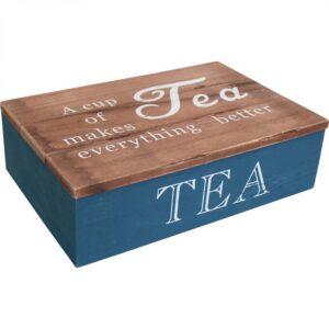 French Country Tea Bag Box Rectangle Navy Better Teabag Holder