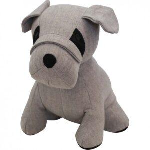 Country Doorstop Sitting Weighted Grey Bulldog Dog Door Stopper