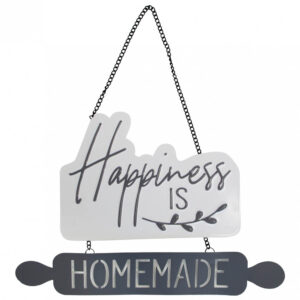 Country Metal Tin Sign Wall Art Happiness is Homemade Hanging
