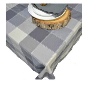 French Country Table Cloth Rans Dobby Grey 150x300cm Tablecloth