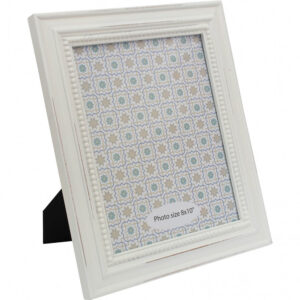 French Country Wooden Photo Frame White 8x10 Inch Freestanding