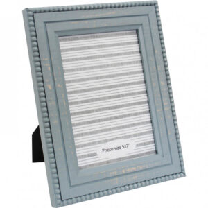 French Country Wooden Photo Frame Storm 5x7 Inch Freestanding