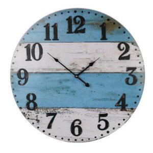 Clocks Wall Hanging Blue White Boards Playa Large 58cm