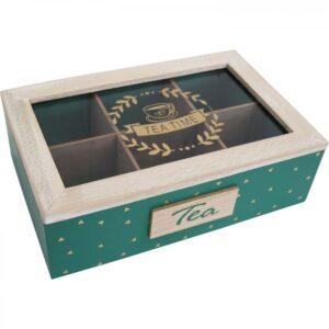 French Country Tea Bag Box Rectangle Teatime Green Teabag Holder