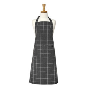 Ladelle Kitchen Cooking Eco Check Recycled Charcoal Apron Adult