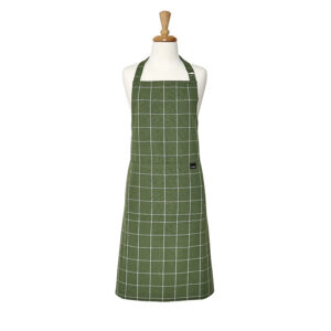 Ladelle Kitchen Cooking Eco Check Recycled Green Apron Adult