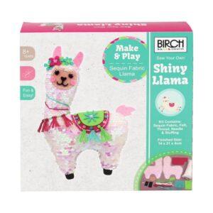 Birch Sewing Kit Kids Beginner 3D Sequin Llama Inc Threads 14x21cm