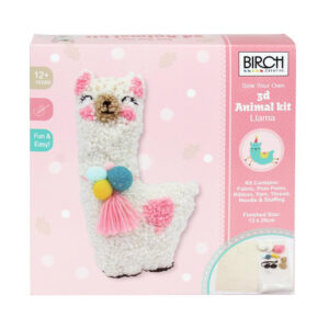 Birch Punch Needle Kit Kids Beginner 3D Llama Inc Threads 13x26cm