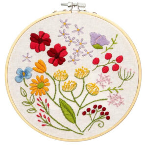 Make It Printed Embroidery Spring Flowers Hand Stitching Kit