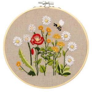 Make It Printed Embroidery Wildflowers Hand Stitching Kit