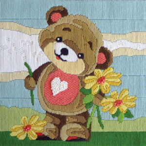 Country Threads Long Stitch Kit Teddys Bouquet Inc Threads
