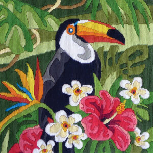 Country Threads Long Stitch Kit Tropical Toucan Including Threads