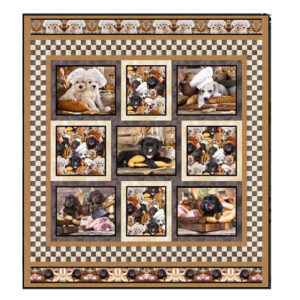 Quilting Sewing Patchwork Quilt Pattern Adorable Dogs