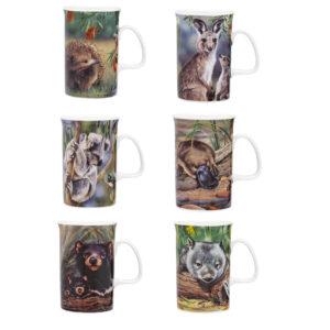 Ashdene Set 6 Native Animals China Mug New
