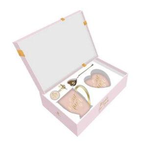 Elegant Best Mum Pink Mug Coaster Tea Infuser Keyring Set Giftboxed
