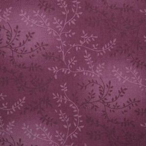 Quilting Patchwork Fabric Sewing Cerise Vines Wide Backing 270x50cm