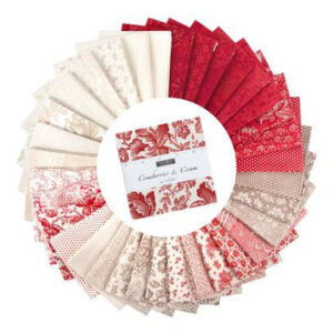 Moda Quilting Charm Pack Cranberries Cream 5 Inch Sewing Fabrics