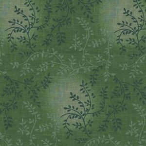 Quilting Patchwork Fabric Sewing Mid Green Vines Wide Backing 270x50cm