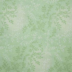 Quilting Patchwork Fabric Sewing Mint Green Vines Wide Backing 270x50cm