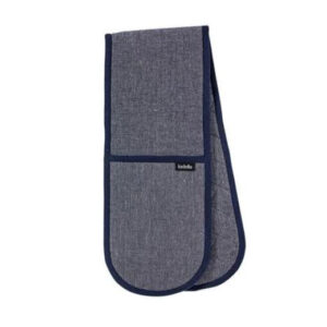 Ladelle Eco Recycled Navy Double Oven Mitts Set