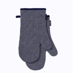Ladelle Eco Recycled Navy Oven Gloves Set of 2 for Hot Oven