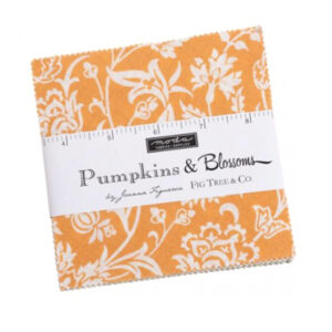 Moda Quilting Charm Pack Pumpkins & Blossoms 5 Inch Sewing Fabrics