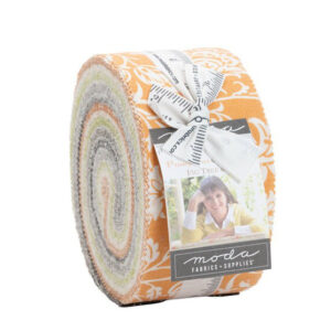Moda Quilting Jelly Roll Pumpkins & Blossoms 2.5 Inch Sewing Fabrics
