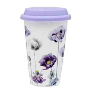 Ashdene Travel Tea Coffee Purple Poppies Collections Mug Cup