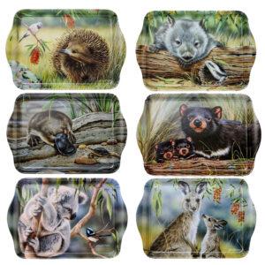 Ashdene Set 6 Native Animals Scatter Tray Melamine