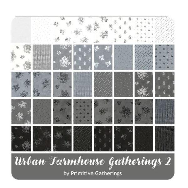 Moda Quilting Urban Farmhouse Gatherings 2 Charm Pack 5 Inch Fabrics