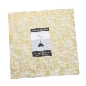 Moda Quilting Junior Layer Cake Whispers Metallic Gold 10 Inch Fabrics