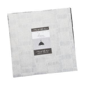 Moda Quilting Junior Layer Cake Whispers Metallic Silver 10 Inch Fabrics
