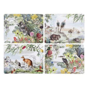 Ashdene Dining Kitchen Wildlife Australia Cork Back Placemats Set 4