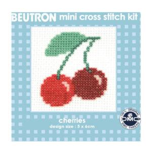 BEUTRON Cross Stitch Kit For Beginner Cherry 6x6cm