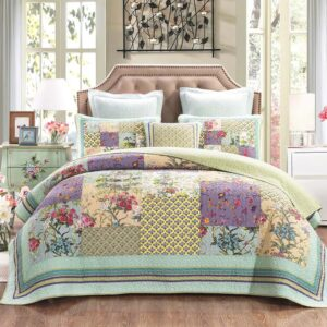 French Country Patchwork Bed Quilt Cosmic Floral Coverlet Assorted Sizes