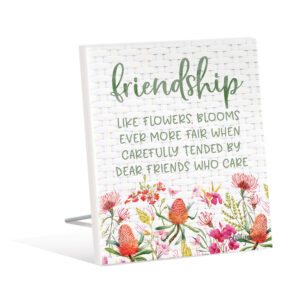 French Country Wooden Sign Blossom Friendship Blooms Standing Plaque