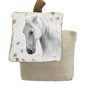French Country Doorstopper Soul Cloud Horse Door Stop Weighted