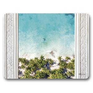 Kitchen Cork Backed Placemats AND Coasters Bahamas Beach Set 6
