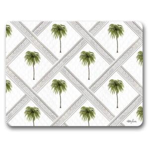 Kitchen Cork Backed Placemats AND Coasters Bahamas Palm Set 6