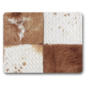 Kitchen Cork Backed Placemats AND Coasters Soul Hide Print Set 6