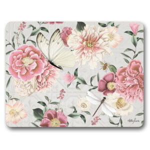Kitchen Cork Backed Placemats AND Coasters Vintage Floral Set 6