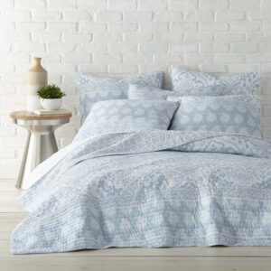 French Country Patchwork Bed Quilt York Coverlet Assorted Sizes