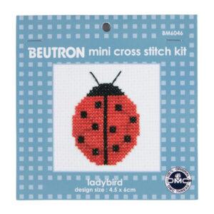 BEUTRON Cross Stitch Kit For Beginner Ladybug 6x6cm